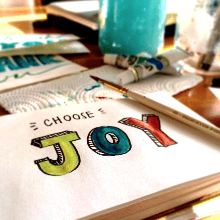 choose joy painting paintbrush quote happiness